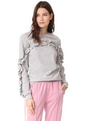 ENGLISH FACTORY Ruffle Detail Sweatshirt