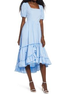 English Factory Ruffle High/Low Dress