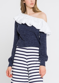 English Factory Ruffled Off Shoulder Top