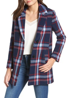 English Factory Single Breasted Plaid Coat