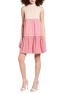 English Factory Sleeveless Tiered Shift Dress