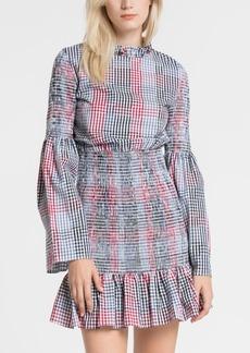English Factory Smocked Check Dress