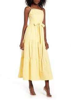 English Factory Stripe Cotton Poplin Maxi Sundress
