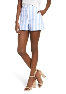 English Factory Stripe High Waist Shorts