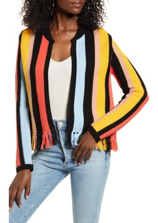 English Factory Stripe Knit Jacket