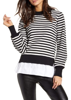 English Factory Striped Contrast Sweater