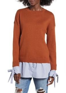 English Factory Twofer Tie Cuff Sweater