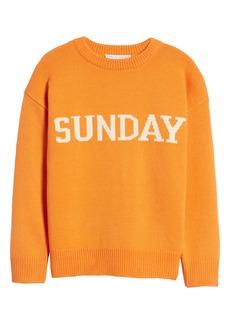 English Factory Weekday Motif Sweater