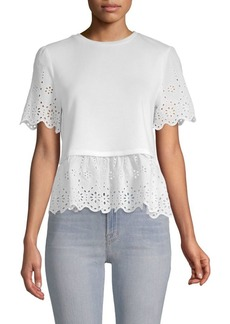 English Factory Eyelet Peplum Top