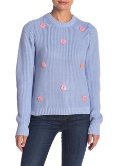 English Factory Floral Detailed Knit Sweater