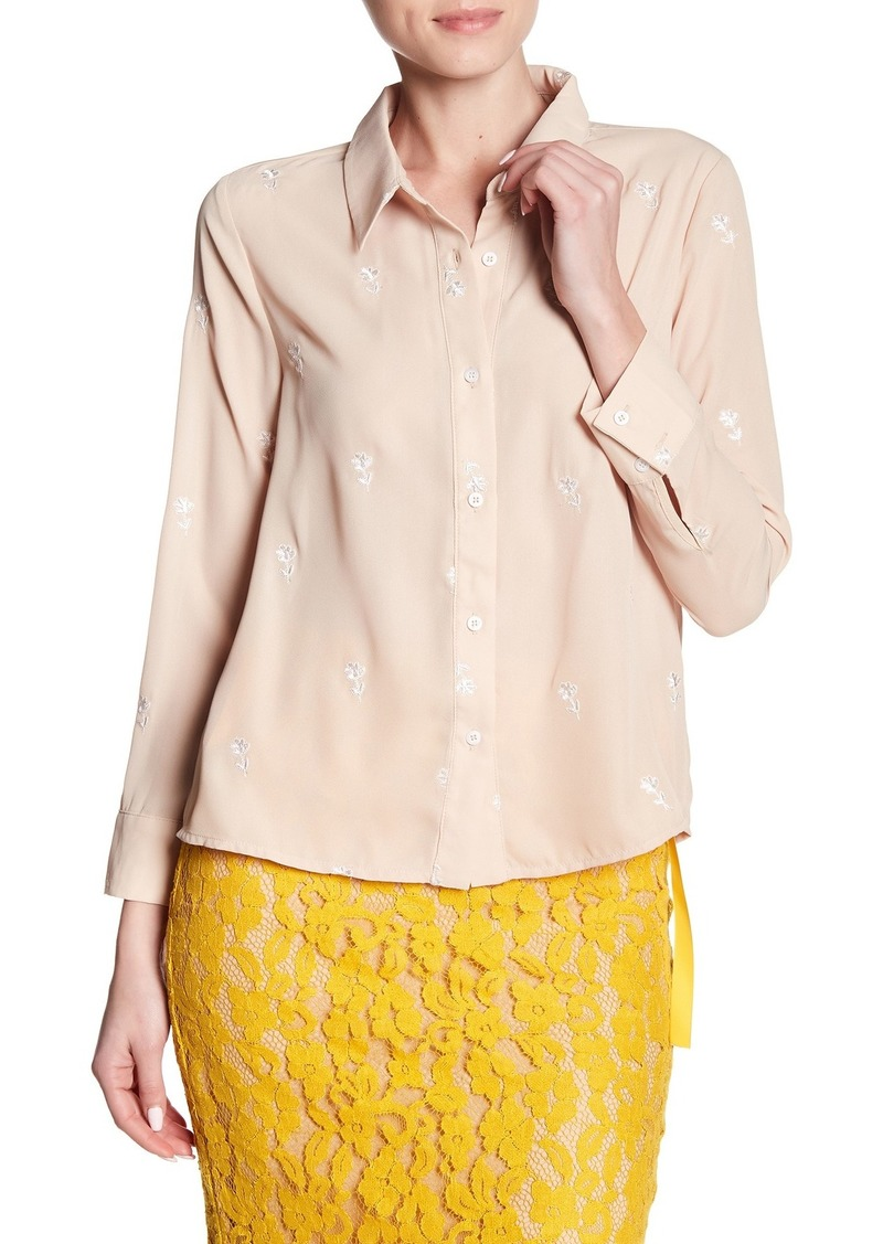 English Factory Floral Embroidered Shirt