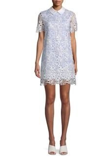 English Factory Floral Lace Shirtdress