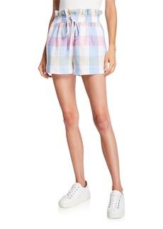 English Factory Gingham Paperbag Ruffle Shorts