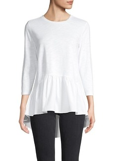English Factory High-Low Cotton Top