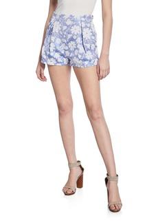 English Factory Jacquard Floral-Print Textured Shorts