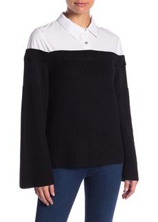 English Factory Knit Combo Blouse