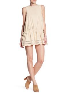English Factory Lattice Inset Sleeveless Dress
