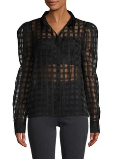 English Factory Plaid Mesh Shirt
