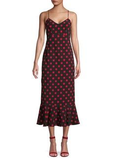 English Factory Polka Dot Midi Dress