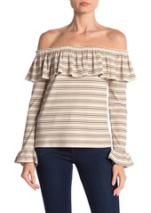 English Factory Ruffle Popover Off-the-Shoulder Top