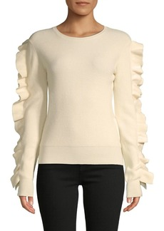 English Factory Ruffle-Sleeve Sweater