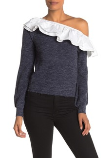 English Factory Ruffled Off-the-Shoulder Top