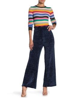 English Factory Scallop Trim Knit Wide Leg Pants