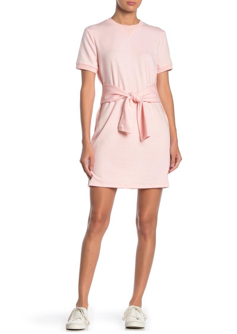 English Factory Short Sleeve Knit Tie Dress