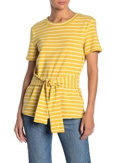English Factory Short Sleeve Stripe Print T-Shirt