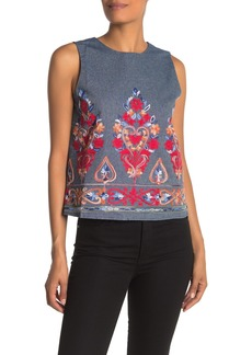 English Factory Sleeveless Embroidered Tank Top