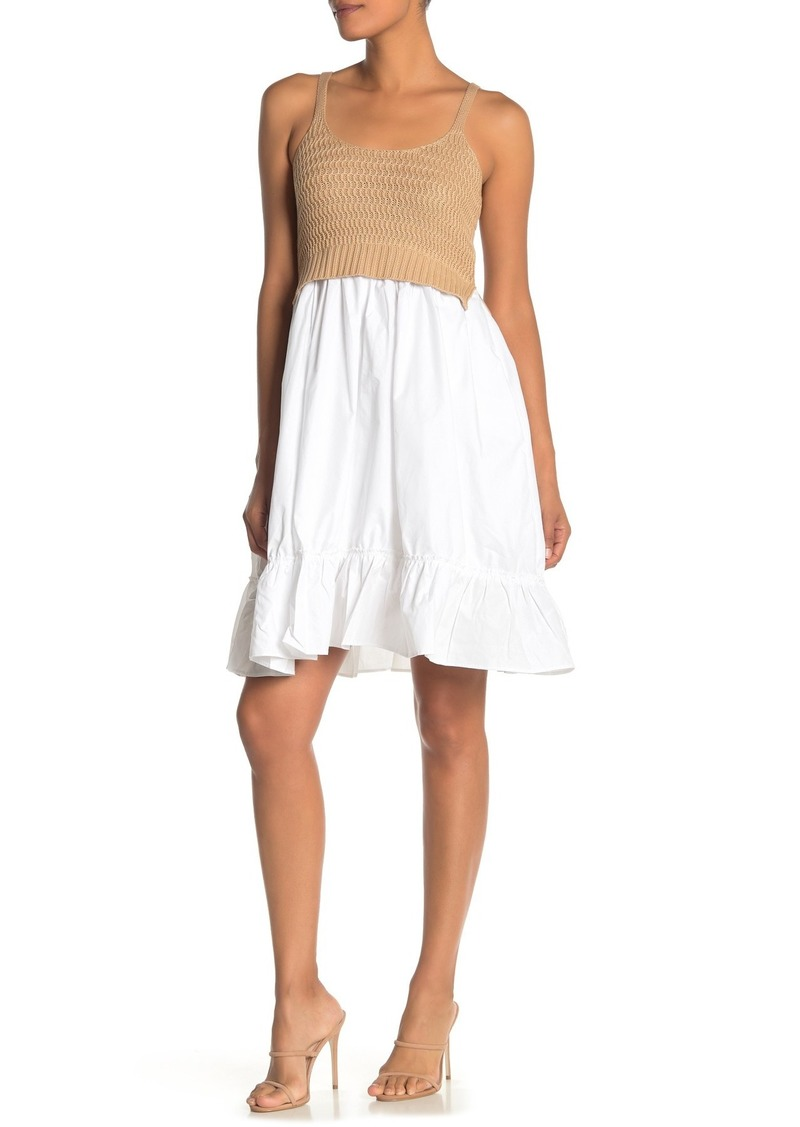 English Factory Sleeveless Twofer Dress