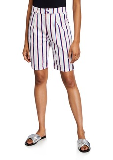 English Factory Striped Bermuda Shorts