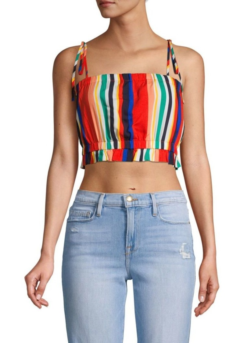 English Factory Striped Cropped Top