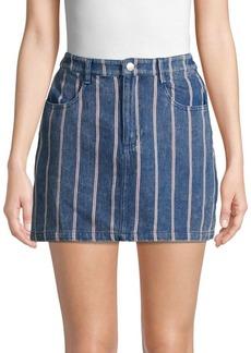 English Factory Striped Denim Skirt