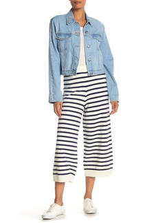 English Factory Striped Knit Culotte Pants