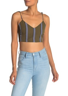 English Factory Striped Sleeveless Crop Top