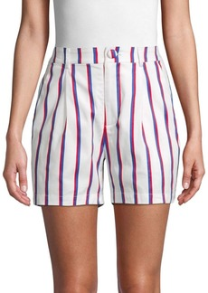English Factory Striped Stretch Shorts