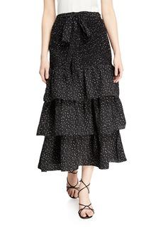 English Factory Tiered Midi Skirt