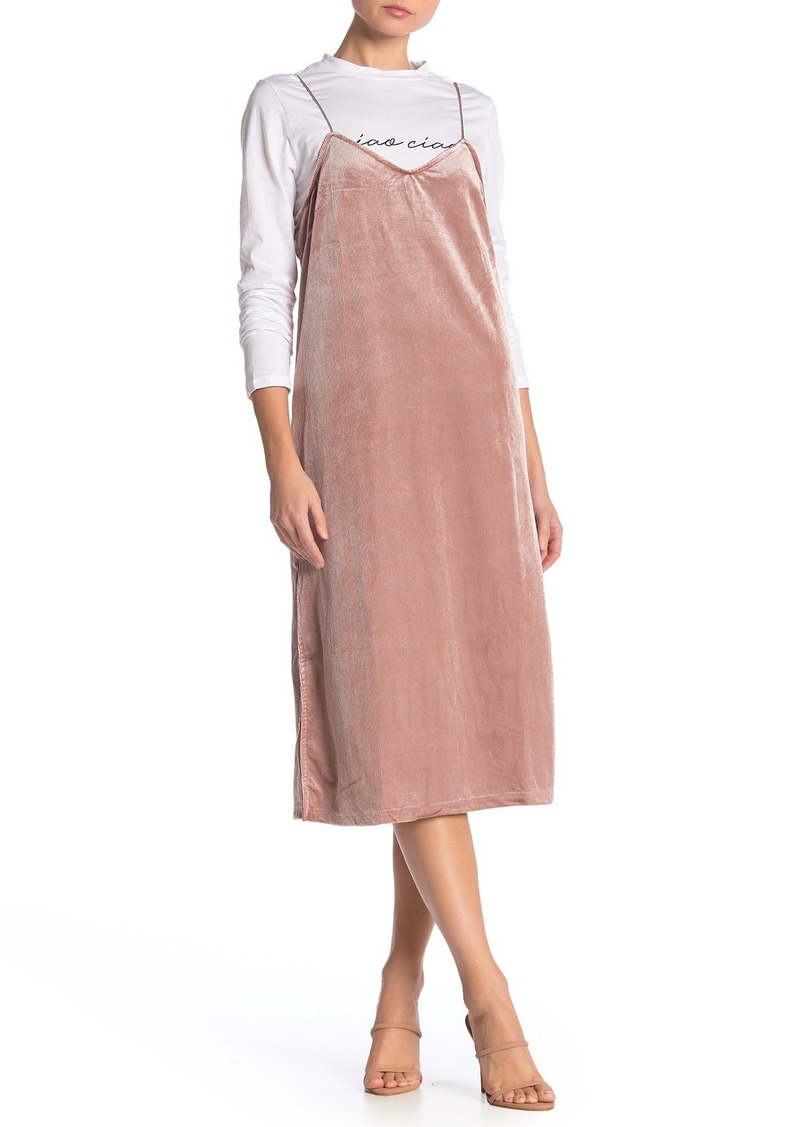 English Factory Twofer Corduroy Slip Dress