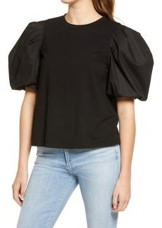 Women's English Factory Puff Sleeve T-Shirt