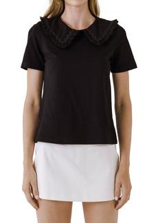 Women's English Factory Zigzag Collar Shirt