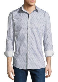 English Laundry Abstract Dot-Line Sport Shirt
