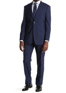 English Laundry Blue Check Two Button Notch Lapel Suit