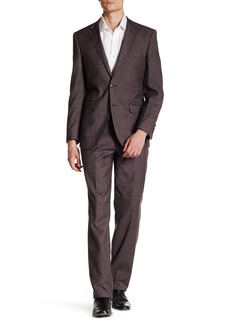 English Laundry Check Two Button Notch Lapel Wool Trim Fit Suit