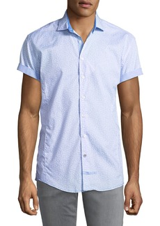 English Laundry Classic-Fit Seashelll Short-Sleeve Sport Shirt