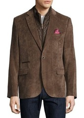 English Laundry Corduroy Quilted Combo Blazer