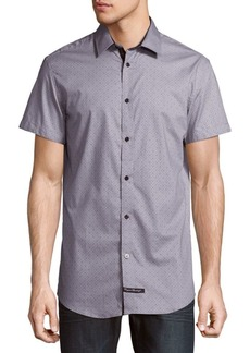 English Laundry Dotted Cotton Button-Down Shirt