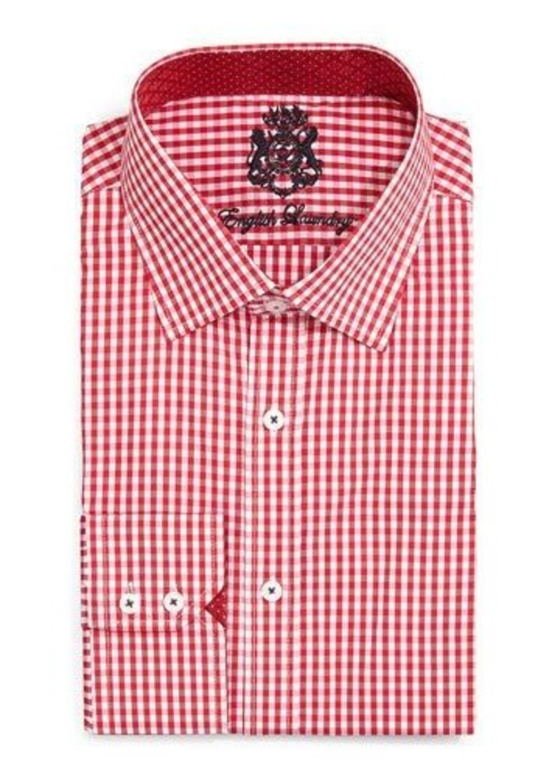 English Laundry Gingham Check Dress Shirt