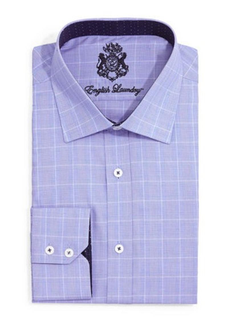 English Laundry Glen Check Dress Shirt