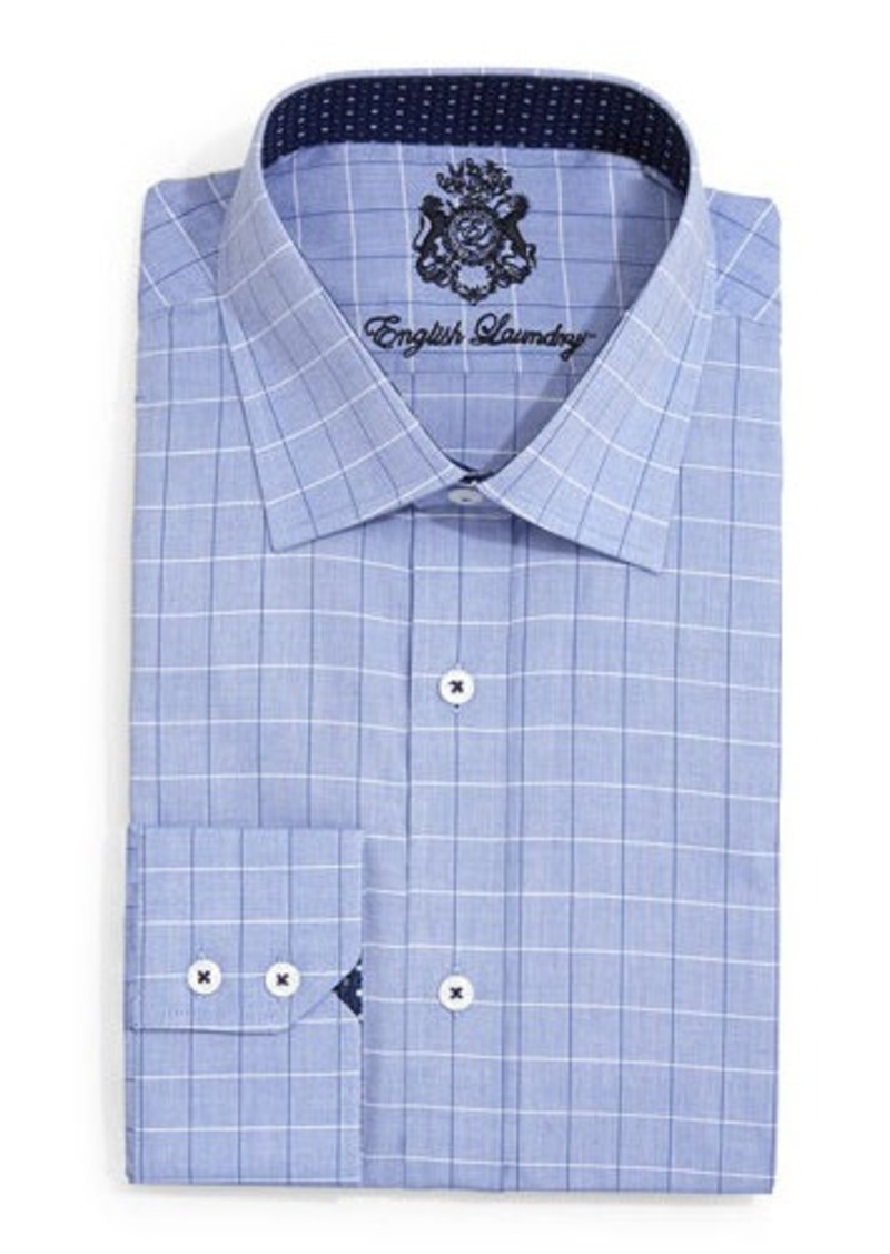 English Laundry Large Check Dress Shirt